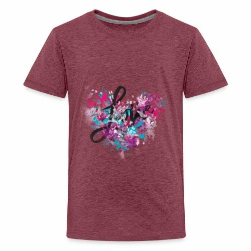 Love with Heart - Teenage Premium T-Shirt