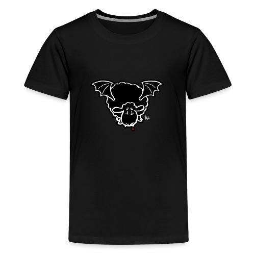 Vampire Sheep (white) - Teenage Premium T-Shirt