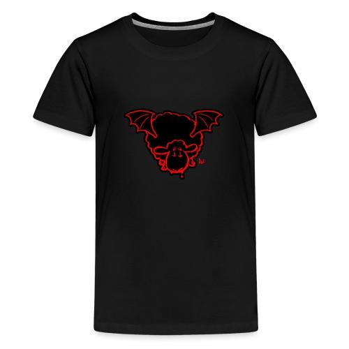 Vampire Sheep (red) - Teenage Premium T-Shirt