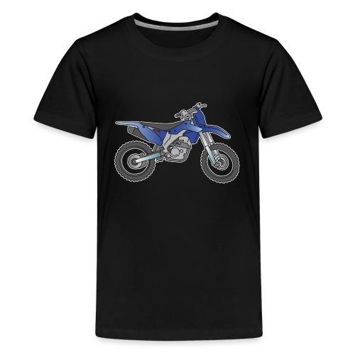 Blaue Motorcross Maschine - Teenager Premium T-Shirt