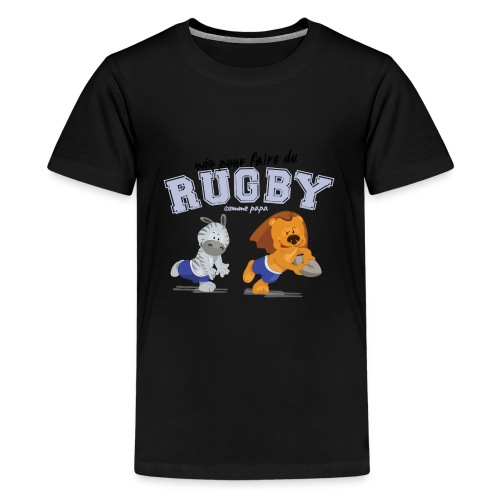 rugby_comme_papa - T-shirt Premium Ado