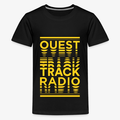 Logo Vertical Grand Jaune - T-shirt Premium Ado