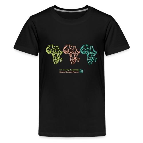 Ramer-Douglas-Peucker Algorithm -Africa - Teenage Premium T-Shirt