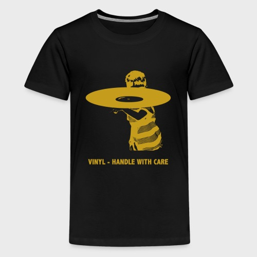 T-Record - Handle with care (goud) - Teenager Premium T-shirt