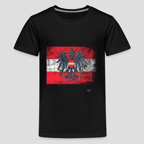 Österreich - Austria Flagge - Teenager Premium T-Shirt