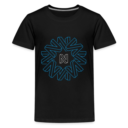 Neos Icon Pattern without URL, 2-color - Teenage Premium T-Shirt