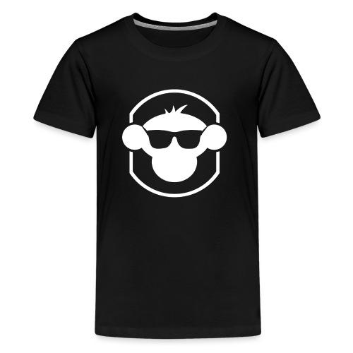 20709 2Clogo and border white no text - Teenage Premium T-Shirt