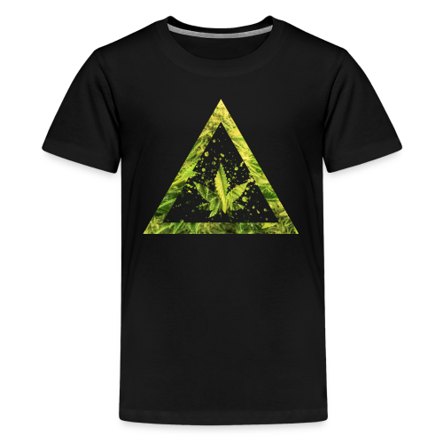 Marijuana Cannabisblatt Triangle with Splashes - Teenager Premium T-Shirt