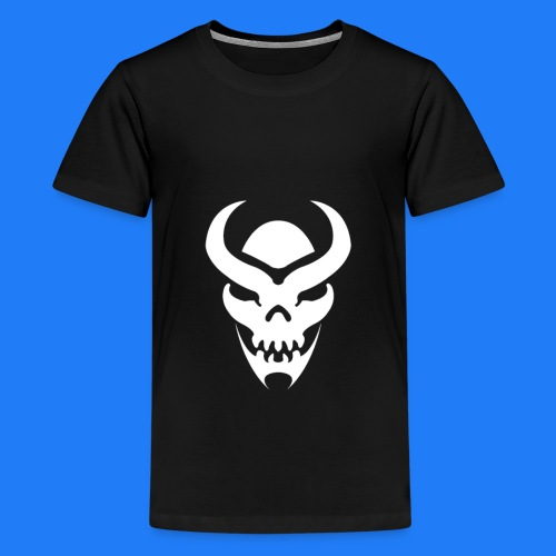 TRIBAL SKULL BLANC - T-shirt Premium Ado