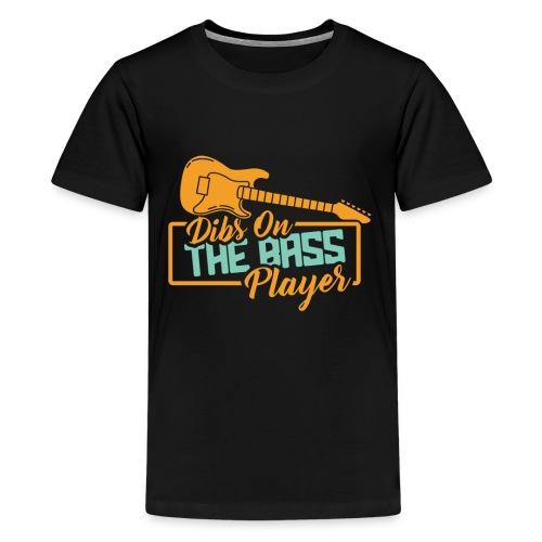 Bass Gitarre Musiker Musik Rock Gitarrist Bassist - Teenager Premium T-Shirt