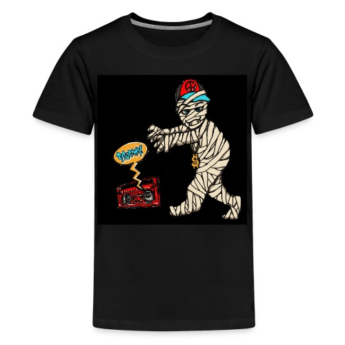 Hip Hop Mummy black background - Teenage Premium T-Shirt