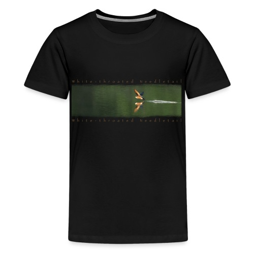 Swallow over the lake. Aerobatic reflection mirror - Teenage Premium T-Shirt