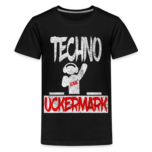 Prenzlau Uckermark Techno Geschenk - Teenager Premium T-Shirt