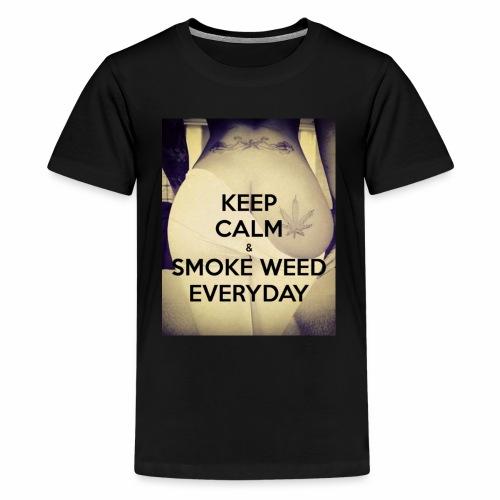 Keep Calm & Smoke Weed Everyday - Koszulka młodzieżowa Premium