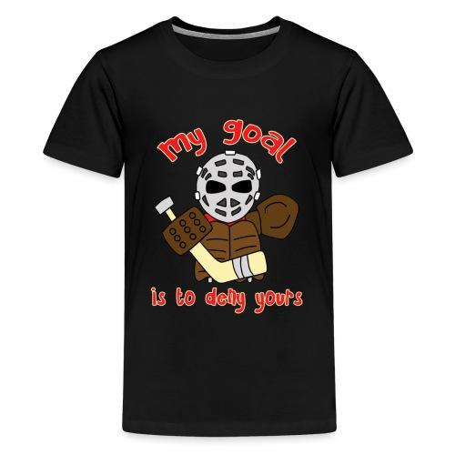 Little Vintage Goalie - Teenage Premium T-Shirt
