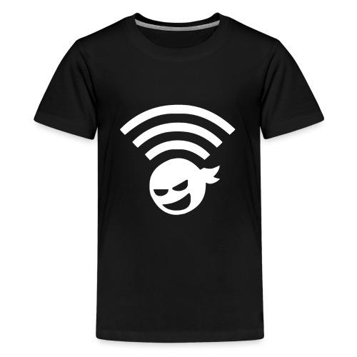 WiFi Ninja Symbol wlan Internet Verbindung - Teenager Premium T-Shirt