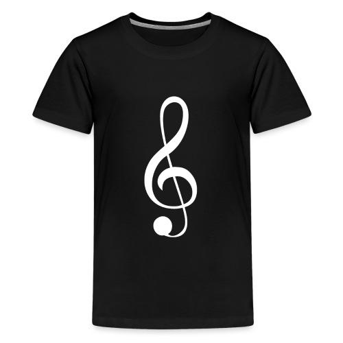 Musik Symbol Violinschlüssel Notenschlüssel - Teenager Premium T-Shirt