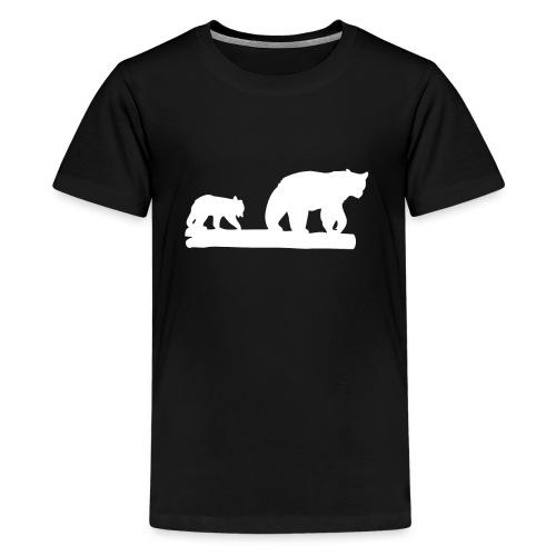Bär Bären Grizzly Raubtier Wildnis Nordamerika - Teenager Premium T-Shirt