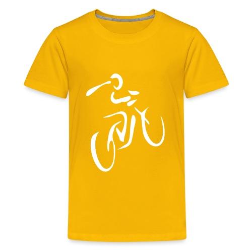 Fahrrad Fahrradfahren Fahrer Rad Fahrradfahrer - Teenager Premium T-Shirt