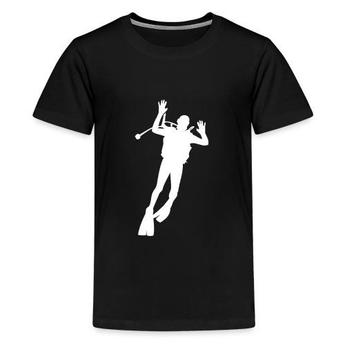 Taucher Silhouette Symbol Tauchen Urlaub - Teenager Premium T-Shirt