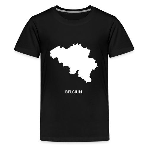 Europa Silhouette Symbol Belgien Land Staat - Teenager Premium T-Shirt
