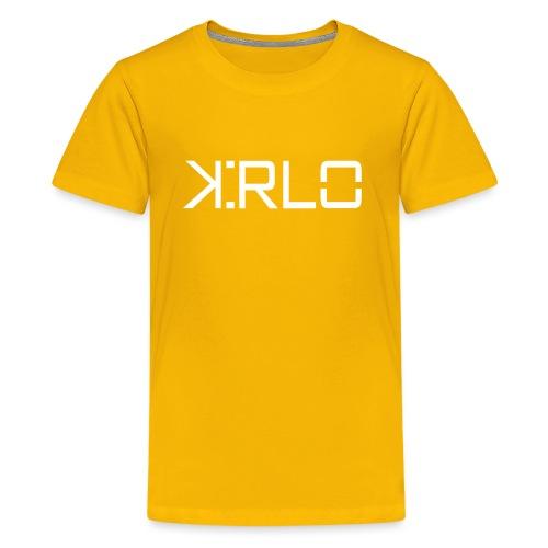 Kirlo Logo Blanco - Camiseta premium adolescente