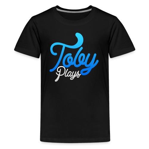 TobyPlays LysTekst - Premium T-skjorte for tenåringer
