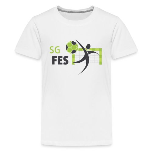 fes logo bunt druck 180 - Teenager Premium T-Shirt
