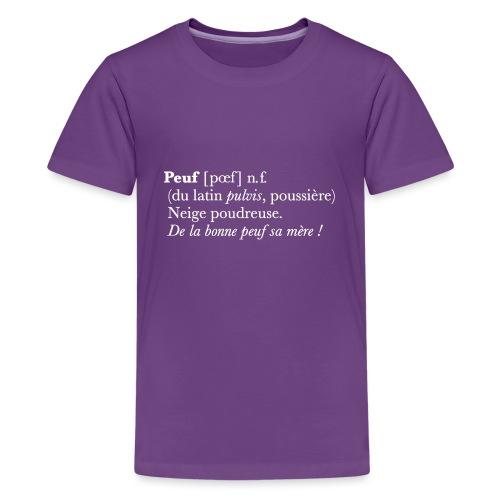 Peuf definition - white - T-shirt Premium Ado