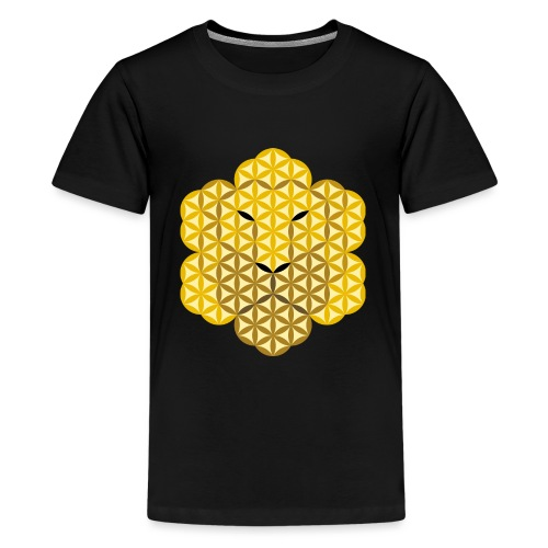 The Lion Of Life - Alpha Male, Crown 01 - Teenage Premium T-Shirt