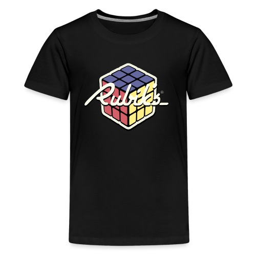 Rubik's Cube Retro Style - Teenage Premium T-Shirt