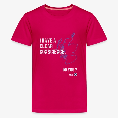 Clear Conscience - Teenage Premium T-Shirt