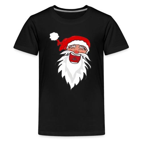Lachender Nikolaus Santa Clause Weihnachten - Teenager Premium T-Shirt