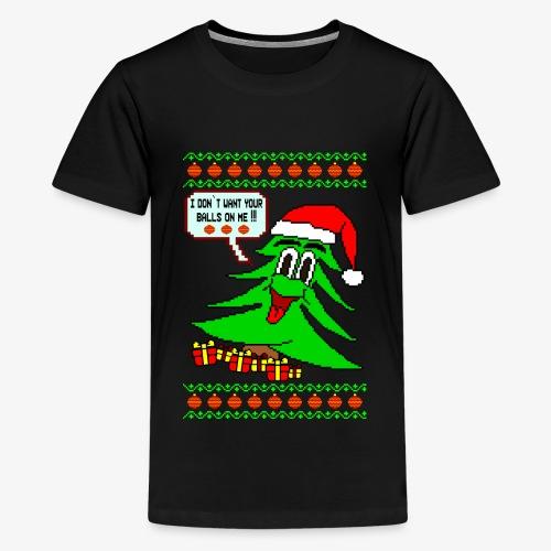 Balls Ugly Christmas - Teenager Premium T-Shirt