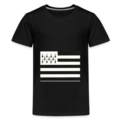 fond ecran drapeau breton jpg - T-shirt Premium Ado