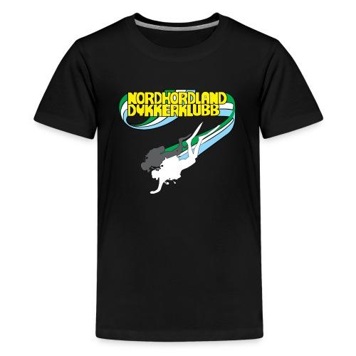 Profilartikler NHDK mørke farger - Premium T-skjorte for tenåringer
