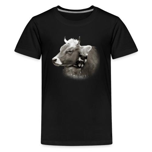 Allgäu Kuh sepia - Teenager Premium T-Shirt