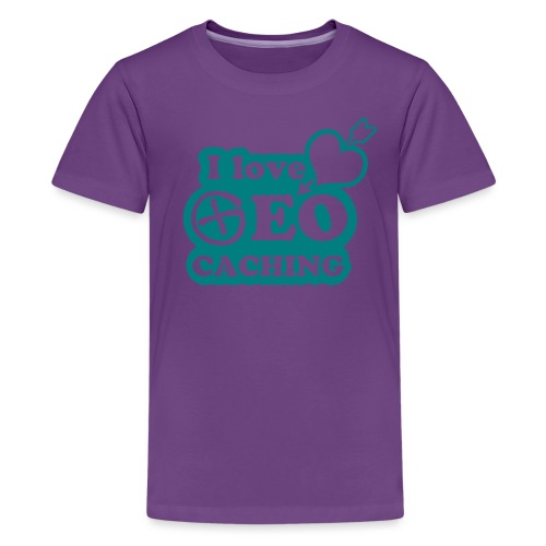 I love Geocaching - 1color - 2011 - Teenager Premium T-Shirt