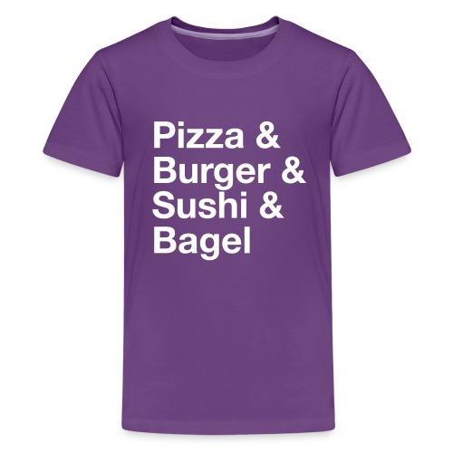 PizzaEtc blanc png - T-shirt Premium Ado