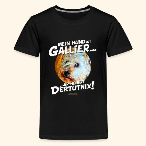Hunde T-Shirt witziger Spruch für Hundehalter - Teenager Premium T-Shirt