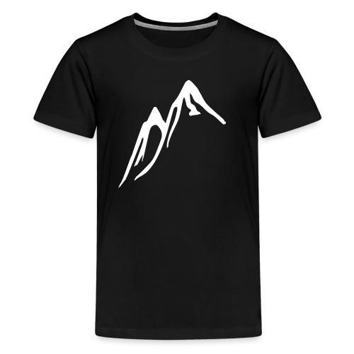 Berg VIT - Premium-T-shirt tonåring
