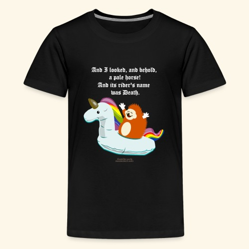 Geek T Shirt Igel, Einhorn & Johannes-Offenbarung - Teenager Premium T-Shirt