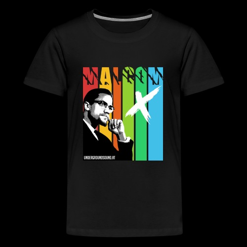 MALCOM X colourful - Teenager Premium T-Shirt
