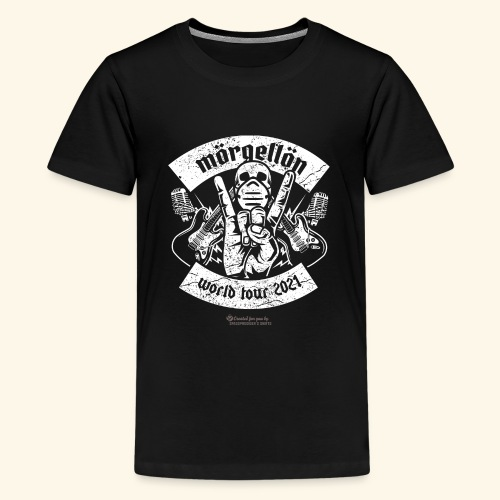 Morgellon Heavy Metal Band T-Shirt World Tour 2021 - Teenager Premium T-Shirt