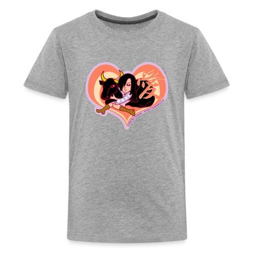 Girl and Ox (Love) - Teenage Premium T-Shirt