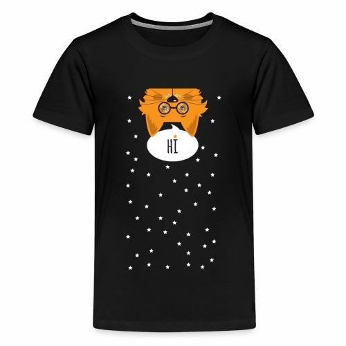 Katze sagt: HI - Teenager Premium T-Shirt