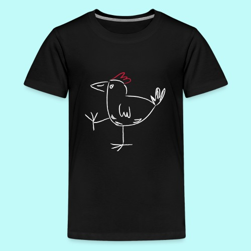 laufendes Huhn - Teenager Premium T-Shirt