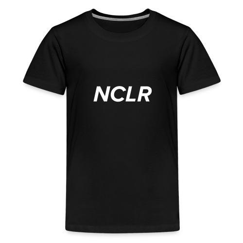 nclr white on black - Teenager Premium T-shirt