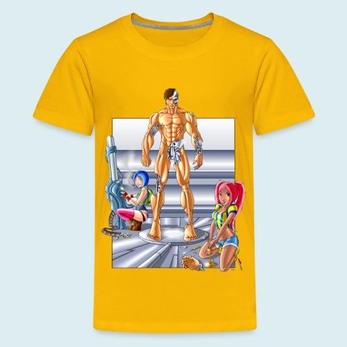 Terminator e meccaniche col - Maglietta Premium per ragazzi