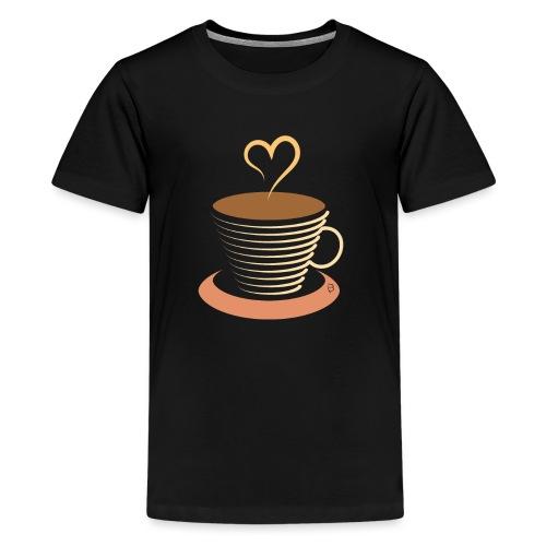 0251 Coffee | Coffee lovers | coffee pot - Teenage Premium T-Shirt